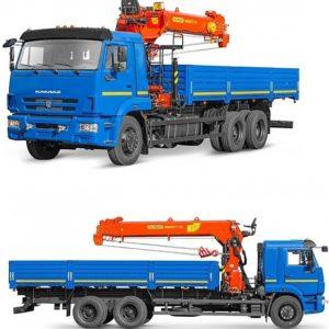 Бортовой автомобиль 6586-322-01 С КМУ PALFINGER INMAN IT-180 на шасси Камаз-65117