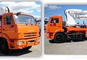 Автобетононасос 58152С на шасси КамАЗ-65111 (6х6, Евро-4)