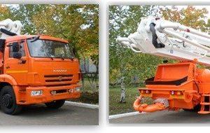 Автобетононасос 58153A на шасси КамАЗ-65115 (6х4, Евро-4)