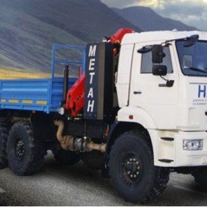 Бортовой автомобиль 390206 с КМУ РК8500 на шасси KAMAZ-43118-3861-32 (6х6)